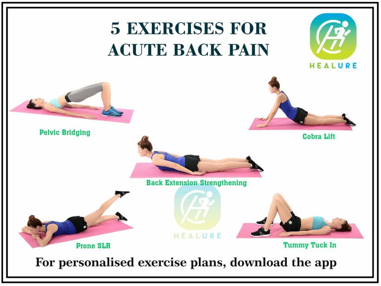 5 Exercises for Acute back pain