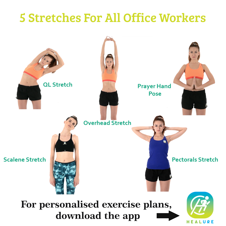 5 stretches for all office workers